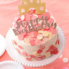 Happy Birthday Rose Gold Glitter Cake Topper 1 Pce