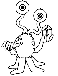 Small Picture Alien coloring pages with gift ColoringStar