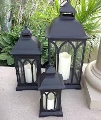 exclusive indoor or outdoor set of 3 lombard patio lanterns outdoor outdoor candle lanterns for patio