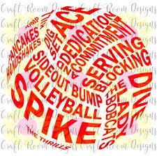 Volleyball Word Bobcat Volleyball Word Art Design