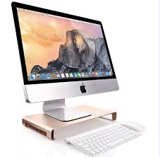 universal monitor riser stand with usb gold