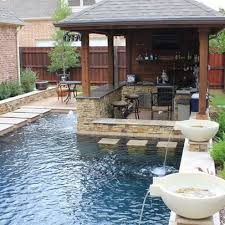 backyard design with pool. Small Backyard Pools Design Ideas - Love This Little Swim-up Bbq! With Pool P