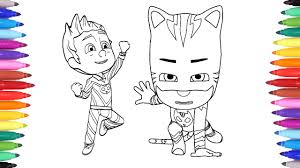 Pj Masks Coloring Pages For Kids Connor Transforms Into Catboy