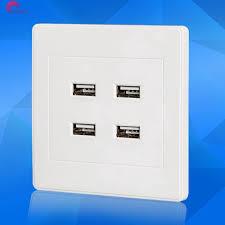 Ổ cắm điện gắn tường 4 cổng USB dùng điện DC 5V giảm chỉ còn 72,765 đ