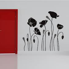 poppy flower wall sticker home decor diy removable black waterproof pvc wall art decal in wall stickers from home garden on aliexpress alibaba group on poppy wall art stickers with poppy flower wall sticker home decor diy removable black waterproof