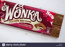 real wonka chocolate bar. Brilliant Real New Wonka Chocolate Nice Cream Flavoured Chocolate Bar Opened To Show  Contents Set On White Background Intended Real Bar T