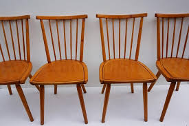 dutch wooden spindle back dining chairs 1960s set of 4 within chair plan 3