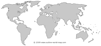Blank World Map Images With Solid Colors Outline World Map