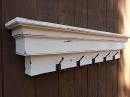 White Coat Hook Rack Homey Idea Long Coat Hook Rack 100 Wall With Shelf Mounted In 57