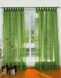2 Transparent Green Living Room Curtain Panels Featuring Decorative Indoor  Faux Planter
