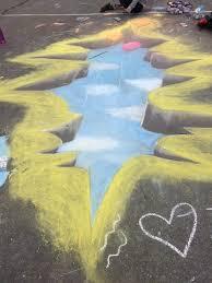 3d Sidewalk Chalk Art Grasshopper And Sensei