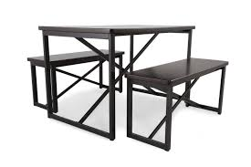 3 Piece Dining Set 3 Piece Dining Set With Dining Benches Mathis Brothers