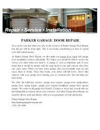 mesmerizing parker garage doors az