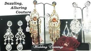 clip on chandelier earrings bridal earrings clip on chandelier
