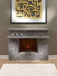 diy faux stone fireplace surround round designs