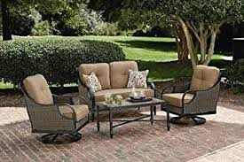 Amazon La Z Boy Outdoor Charlotte 4 Piece Seating Set