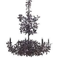 standard oak tree bronzed iron