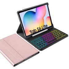Bộ bao da và bàn phím không dây với khe để bút cho máy tính bảng Samsung  Galaxy TAB S6 lite 10.4 inch
