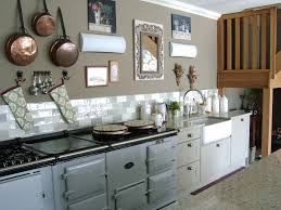 Kitchen Marble Floor French Kitchen Large Aga In Pearl Ashes Carrara Marble Floors