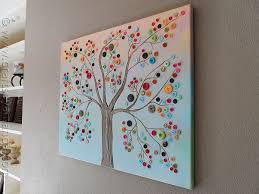 Canvas Design Ideas button tree a beautiful canvas project full of vibrant colors