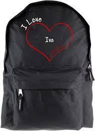Rucksack Modern I Love Iva Black: Amazon.co.uk: Sports & Outdoors