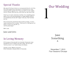 Wedding Program Thank You Message Images