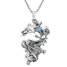this amazing handmade necklace features the legendary chinese dragon which symbolizes power strength and good fortune the finest sterling silver is used