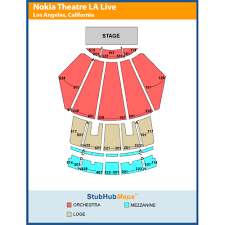 Nokia Theater Seating Chart Video Microsoft Concert Bismi Margarethaydon Com