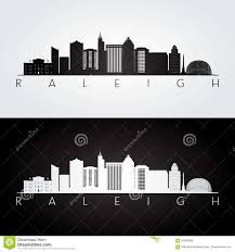 Skyline Hair Design Raleigh Raleigh Usa Skyline And Landmarks Silhouette Stock Vector