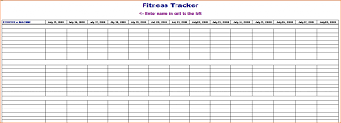 Fitness Tracking Sheet Insaat Mcpgroup Co