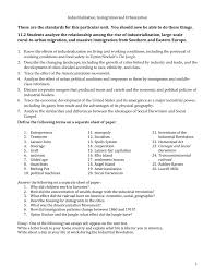 industrialization and immigration test study guide