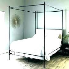 wrought iron canopy bed frame – grotonsushi