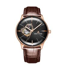 New Reef Tiger/RT <b>Luxury Rose Gold Watch</b> Men's Automatic ...