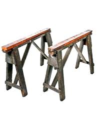 chrome sawhorse table legs sawhor steel designs plans metal old portable factory work wood bases