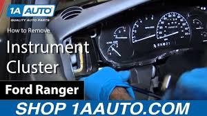 2003 Ford Ranger Instrument Cluster Light Bulbs How To Replace Instrument Cluster 93 03 Ford Ranger