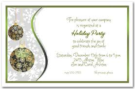 holiday invitations green gold snowflake ornaments holiday invitations