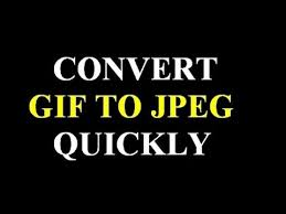 How to convert gif image to jpg format - YouTube