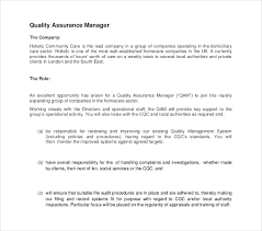 10 Quality Assurance Job Description Templates Pdf Doc Free