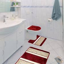 scroll 3 piece bathroom rug set bath mat contour rug lid cover