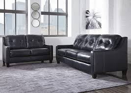 Brothers Fine Furniture O Kean Navy Sofa and Loveseat
