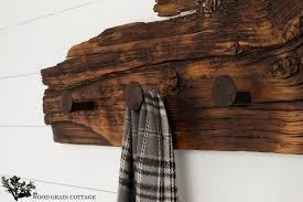 railroad spike hook rack by the wood grain cottage