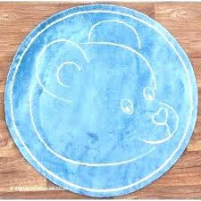 navy circle rug blue and white round