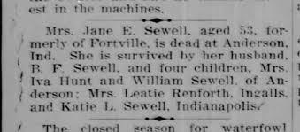 janie shepherd sewell wife of benjamin - Newspapers.com