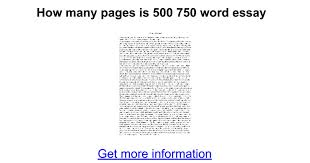how many pages is word essay google docs