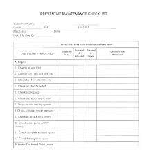 Computer Checklist Template Project Checklist Template