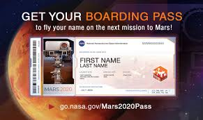NASA Invites Public to Submit Names to Fly Aboard <b>Next Mars</b> Rover