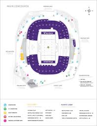 Us Bank Vikings Seating Chart Minnesota Vikings U S Bank Stadium Map Seating Chart
