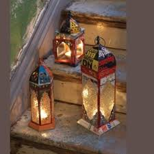 moroccan inspired lighting. these are a super cute way to light up an outdoor areau2026moroccan inspired recycled lamps original source httpwwwkaboodlecom not the most authentic i moroccan lighting