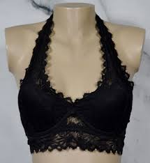 Lightly Lined Halter Bralette Pink Victorias Secret Black Lace Bralette Lightly Lined