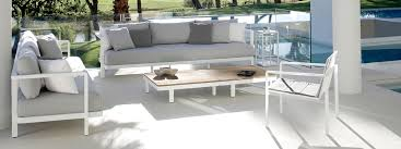 royal botania alura high quality garden sofa with cool white frame ecru cushions with low